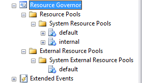 Resource governor and external resource pool for Microsoft R Services