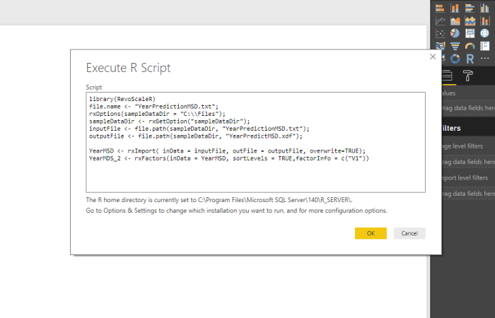 Is it possible to use RevoScaleR package in Power BI?