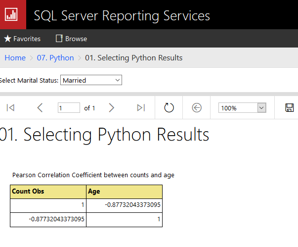 2018-11-18 18_47_03-01. Selecting Python Results - SQL Server 2017 Reporting Services